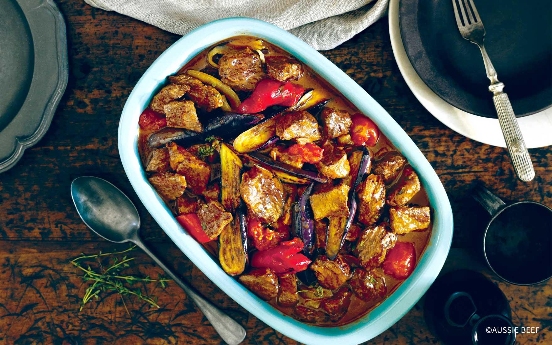 牛肉とロースト野菜のキャセロール