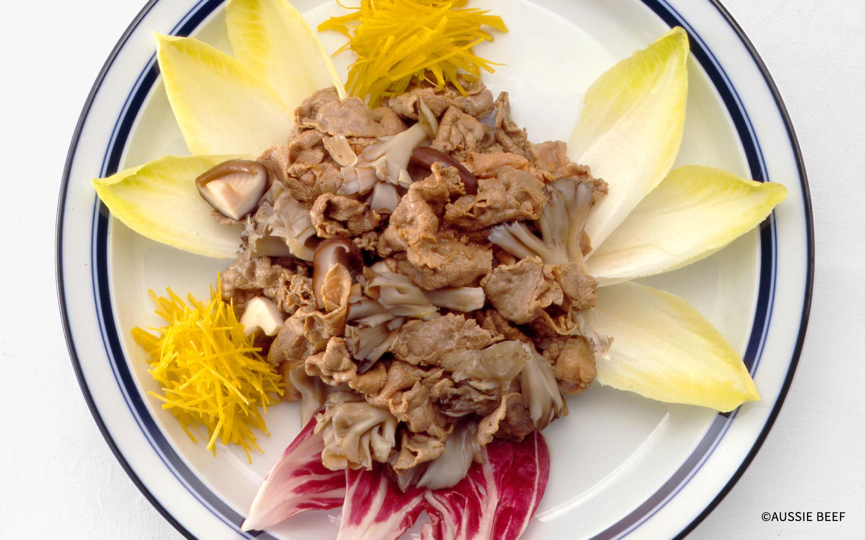 牛肉ときのこの和風サラダ