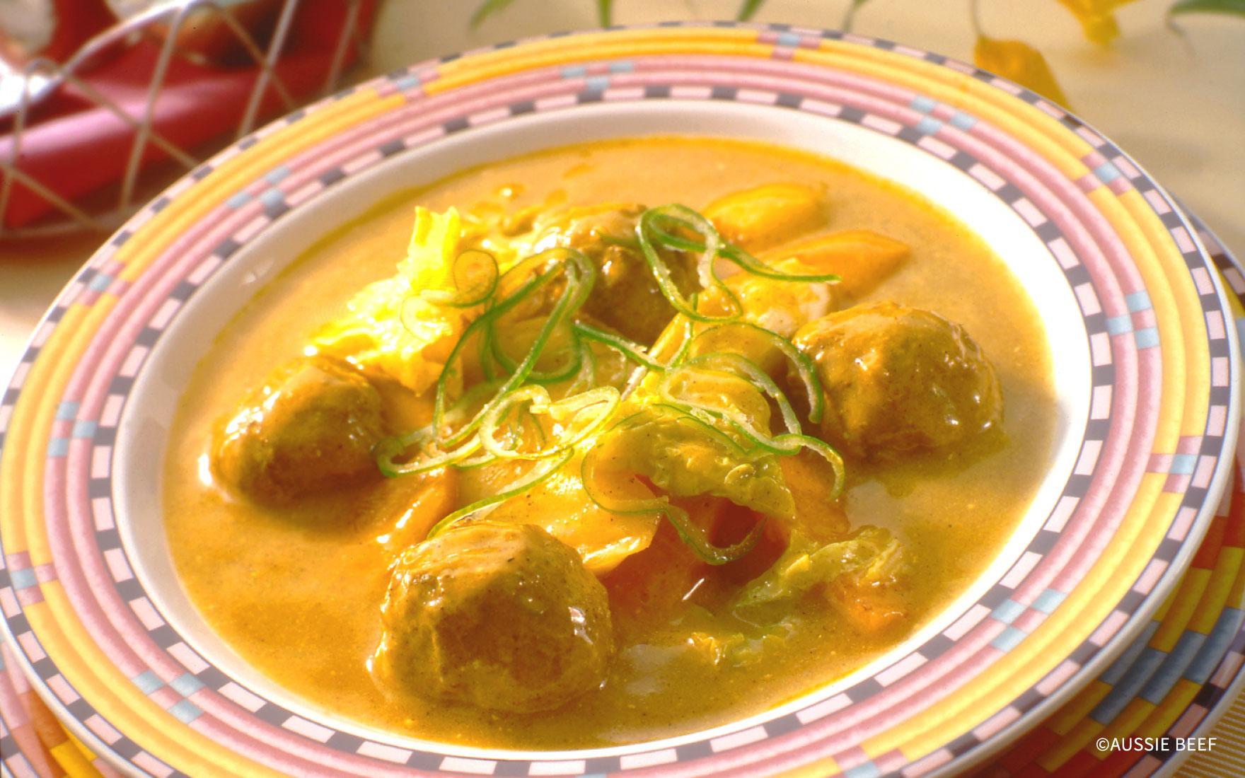 肉団子のカレーココナッツ煮