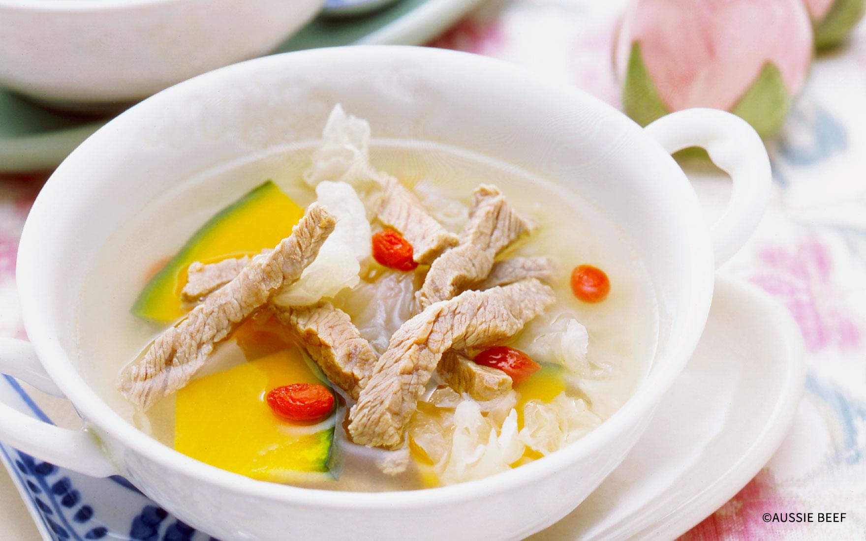 牛肉とカボチャのスープ