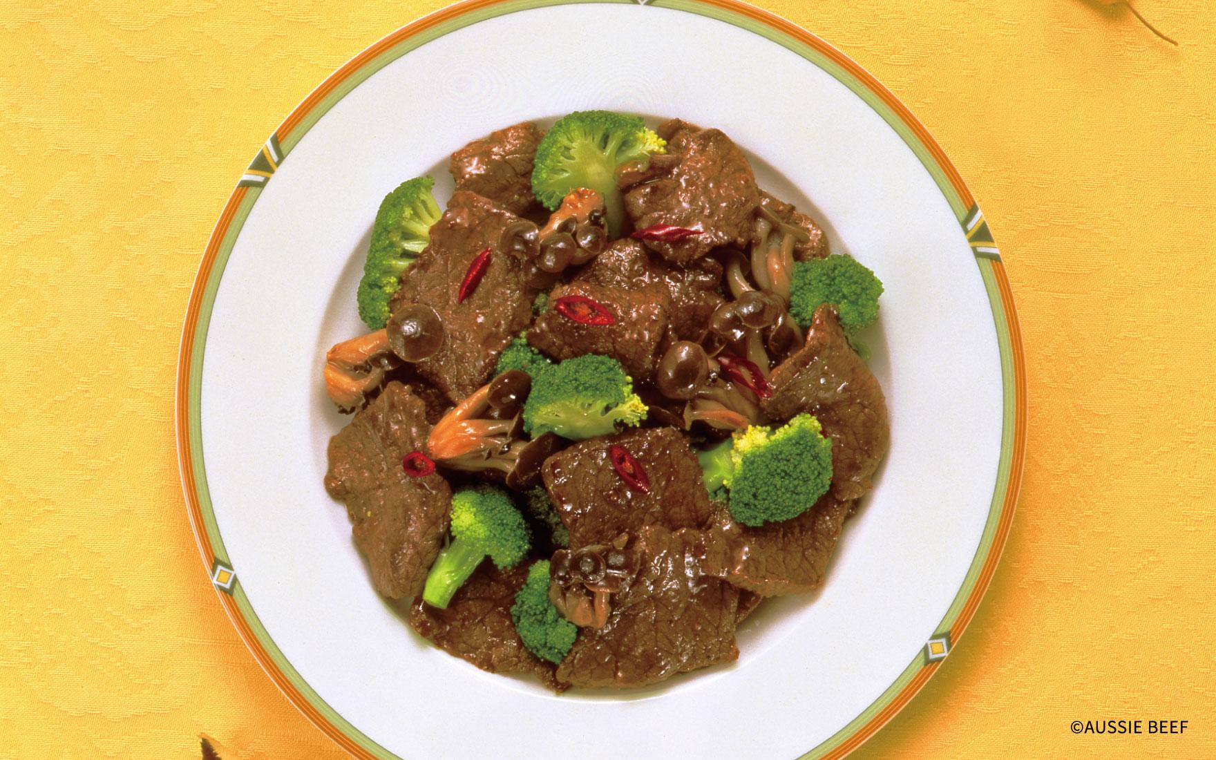 牛肉とブロッコリーの中華炒め