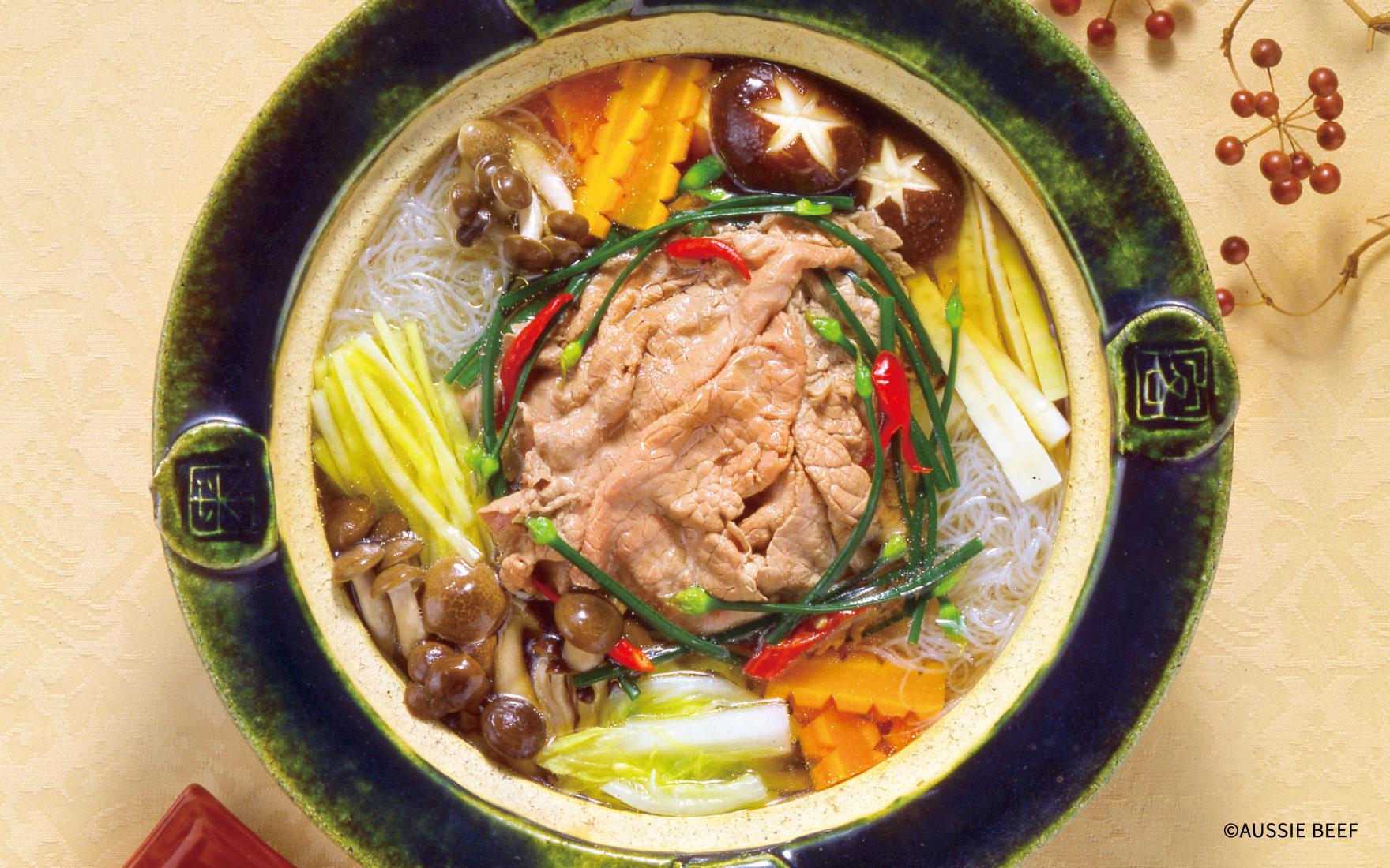 中華風牛しゃぶしゃぶ鍋