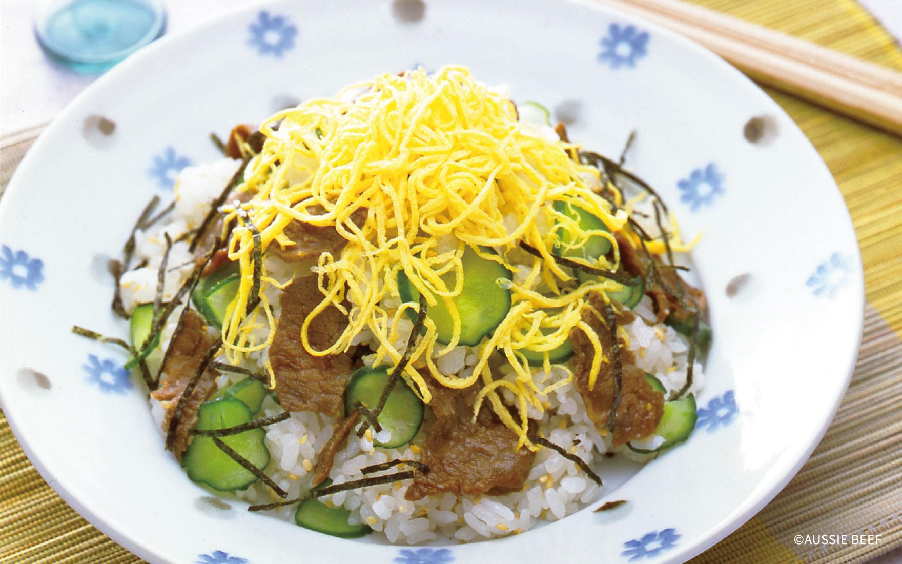 牛肉のちらし寿司